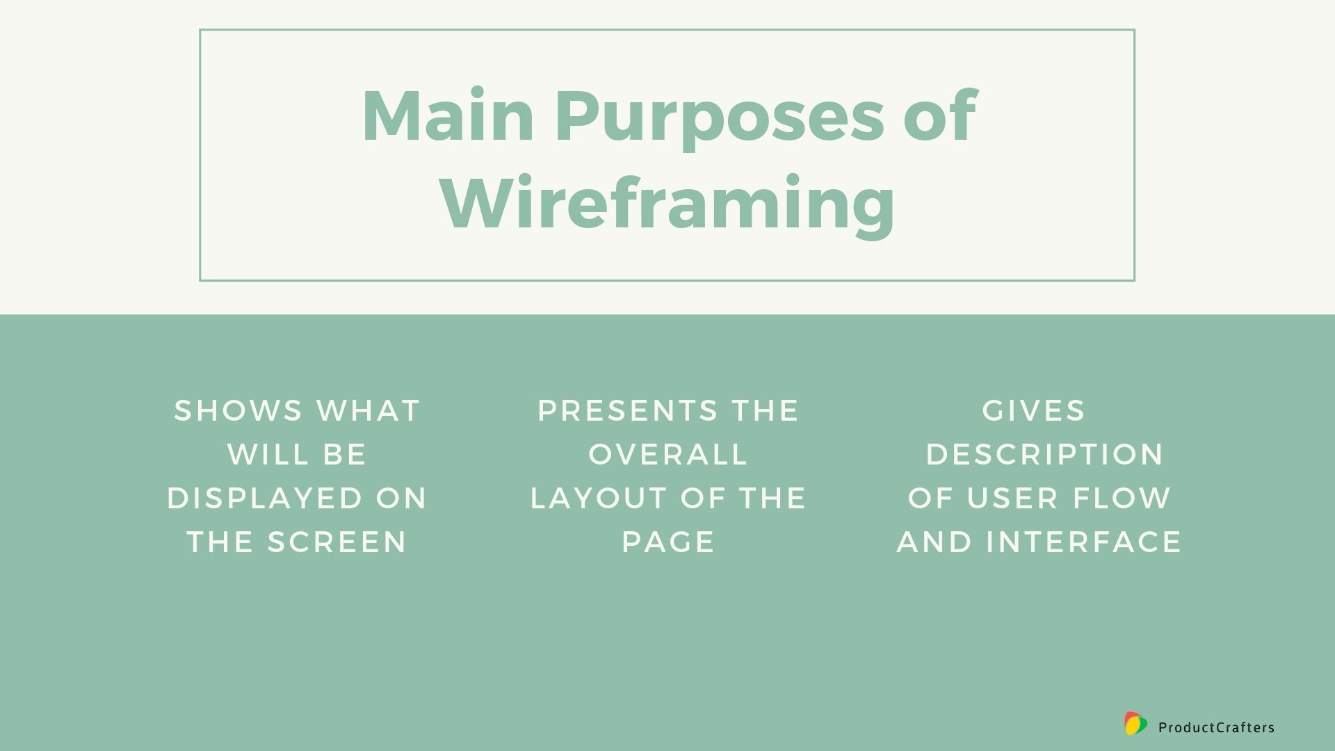 Main Purposes of Wireframing